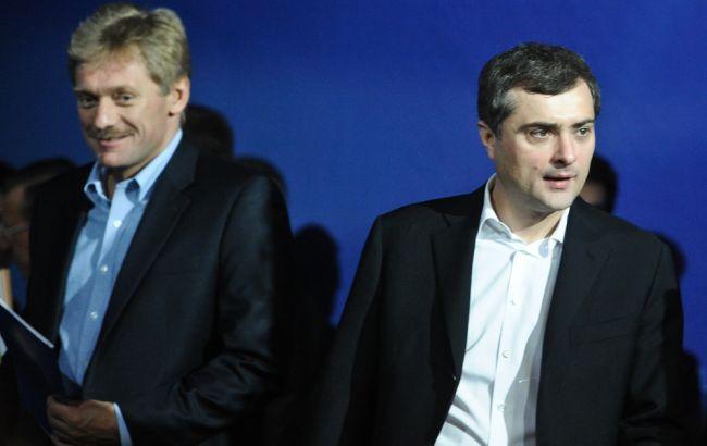 Фото: Дмитро Пєсков і Владислав Сурков