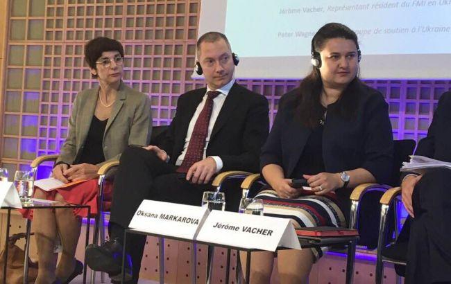Фото: Борис Ложкин (по центру) на Французско-украинском бизнес-форуме в Париже
