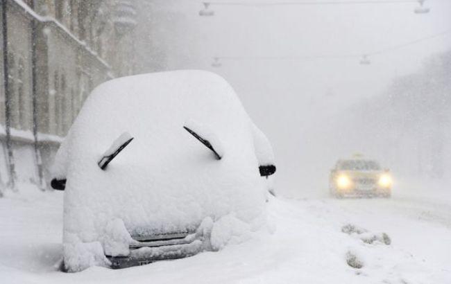 Фото: снігопад у Києві