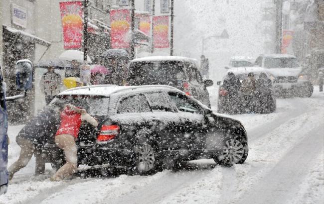 Фото: Сніг у Києві (InfoResist)