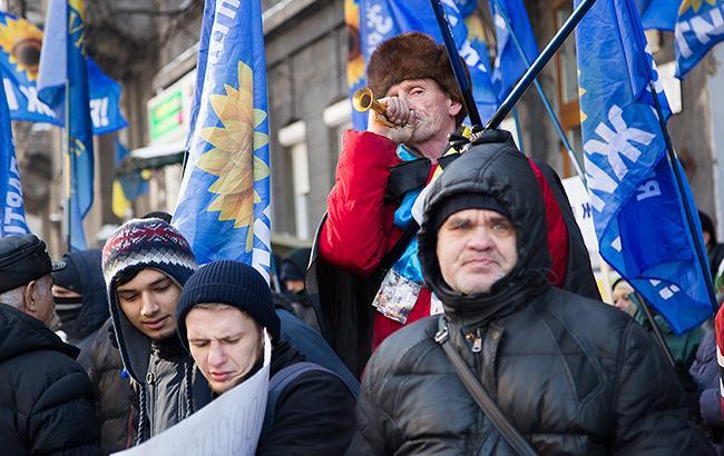 У столиці розпочалися акції протесту проти всього
