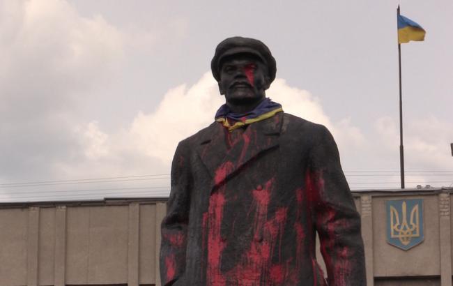 Фото: памятник Ленину в Славянске