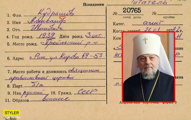 Митрополит РПЦ оказался агентом КГБ: опубликован документ