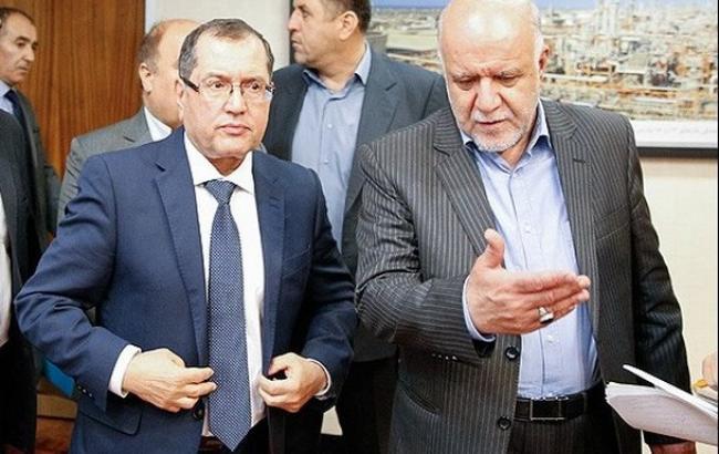 Фото: міністр нафти Ірану Біджан Зангане та міністр енергетики Алжиру Нуредін Бутерфа обговорили скорочення видобутку нафти
