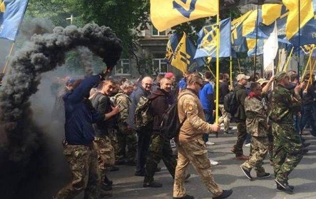 """Фото: """"Азов"""" маршем пройшов по центру столиці"""