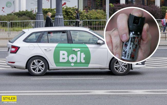 В Киеве таксист забрызгал баллончиком водителя и его девушку из-за замечания на дороге (видео)