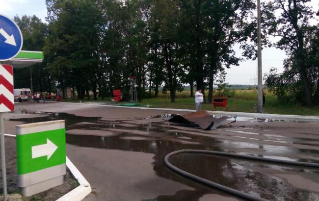 УКиївській області наАЗС сталася пожежа, є загиблий