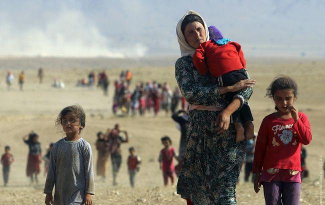 Фото: сирийские беженцы