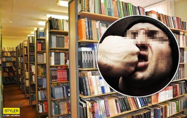 В Житомире библиотекарь напал на АТОшника (видео)