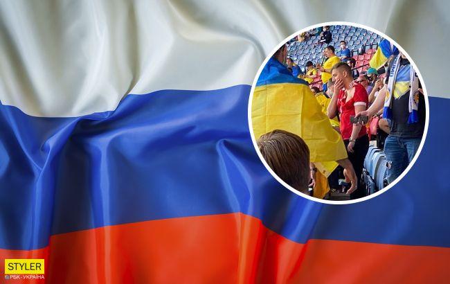 Побитый болельщик с российским флагом на матче Украина - Швеция объяснил выходку