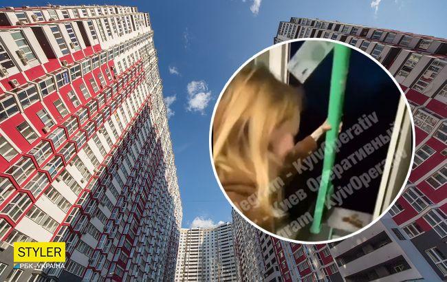 П'яні в дим дівчата викинули самокат з вікна багатоповерхівки: відео дикого вчинку