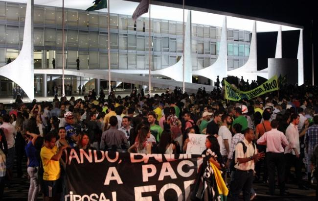 Фото: протесты в Бразилии