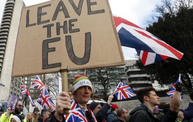 В Лондоне тысячи людей вышли на митинг в поддержку Brexit