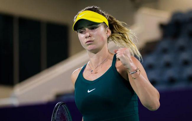 Украинская теннисистка Свитолина легко прошла в четвертьфинал WTA 500 в Дохе