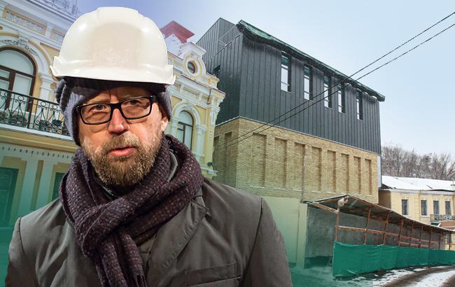Фото: Новый Театр на Подоле вызвал бурю негодования (Коллаж РБК-Украина)