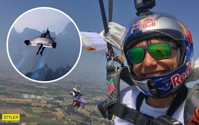 """Знаменита """"реактивна людина"""" розбилася в Дубаї: неймовірне відео трюків сміливця"""