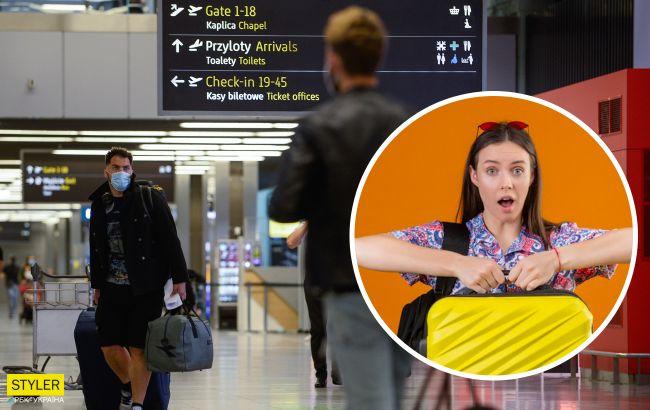 """Украинку в Польше сняли с рейса в Киев и оштрафовали из-за """"бомбы"""" в чемодане"""