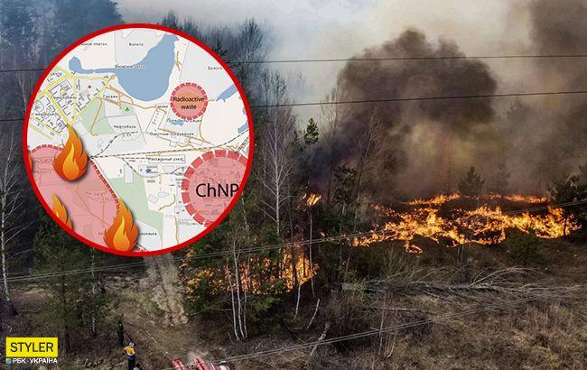 Пожар в Чернобыле скоро достигнет хранилищ с радиоактивными отходами