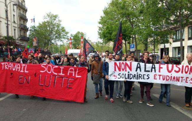 В Париже произошли столкновения между демонстрантами и полицией