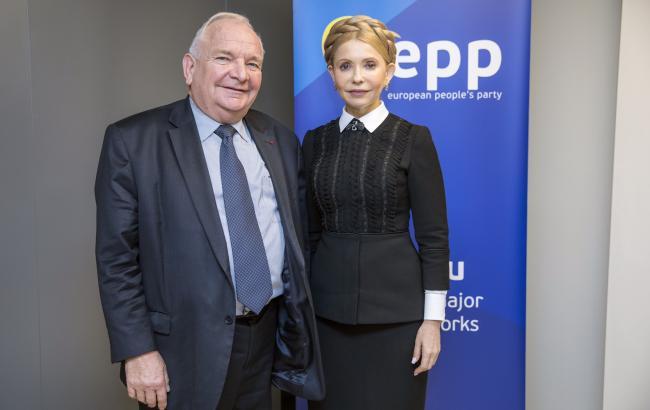 Фото: Жозеф Доль и Юлия Тимошенко (ba.org.ua)