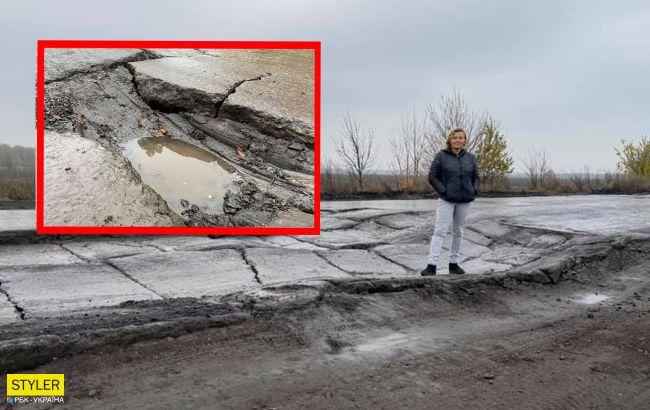 Плити ворушаться ніби живі: українців шокувала траса міжнародного значення