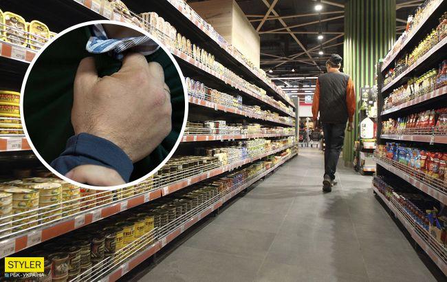 Под Киевом покупатель пощечинами усмирил двух дебоширов в супермаркете: эпичное видео