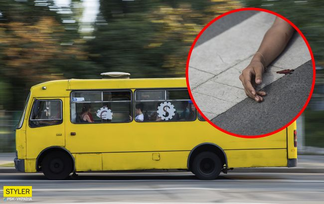 """У Дніпрі маршрутка насмерть переїхала жінку на """"зебрі"""": страшна ДТП потрапила на відео"""