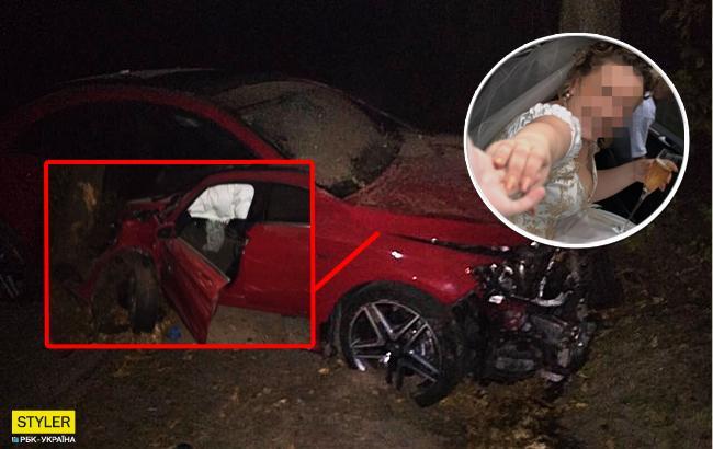 Во Львовской области разбилось авто с похищенной невестой (фото)