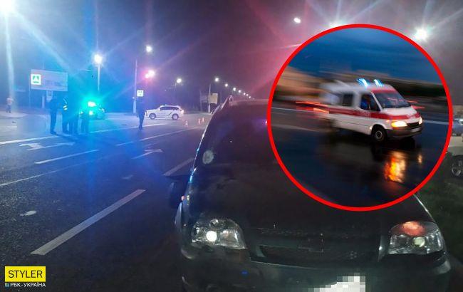 В Мелитополе иномарка снесла пешеходов: видео трагедии
