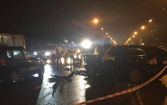 У Києві внаслідок зіткнення трьох автомобілів загинула людина