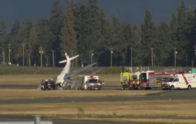 Фото: крушение самолета в Канаде (twitter.com/PennyDaflos)