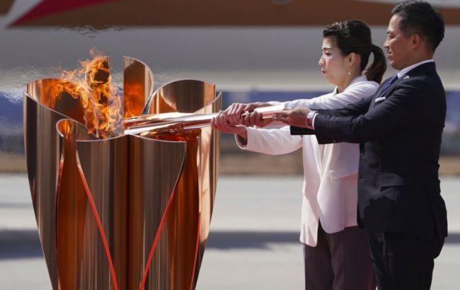 Олимпийский огонь с Греции доставили в Японию