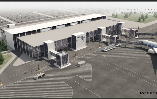 Оприлюднено плани нових терміналів аеропорту у Дніпрі, які будує Ярославський