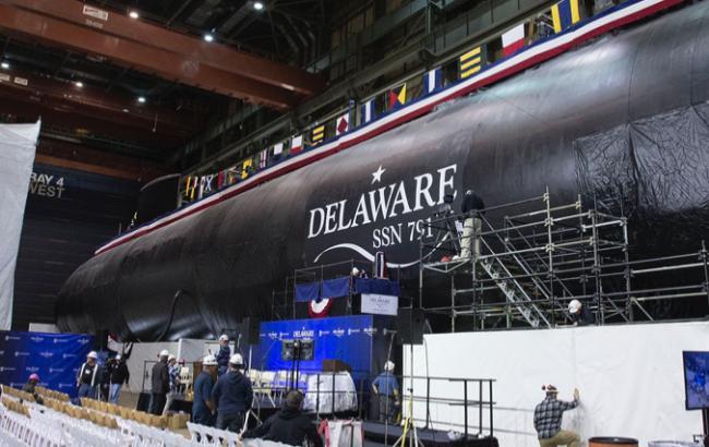 В США спустили на воду две новые ударные атомные подлодки