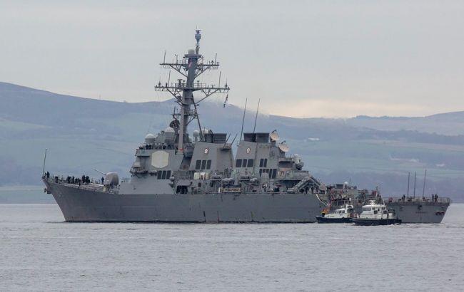 Россия имитировала ракетный удар по эсминцу США в Черном море