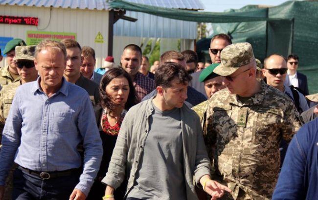 Зеленский и Туск посетили район ООС