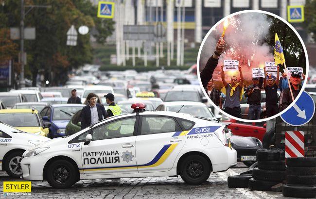 У Києві перекрито вулиці, починаються сутички з поліцією: що відбувається