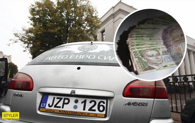 """В Україні почнуть відбирати """"євробляхи"""": водії спалюють авто"""