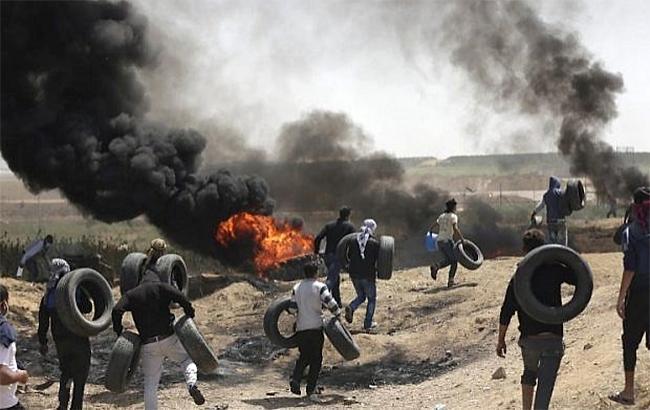 В ходе столкновений на границе сектора Газа ранены 54 человека