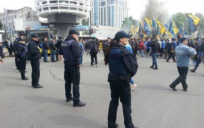 """Фото: марш """"Азова"""" в Києві"""