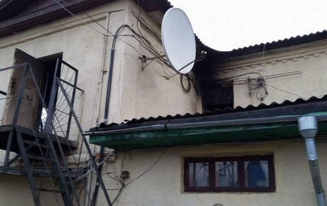 Фото: в Конотопе подожгли местную студию телевидения