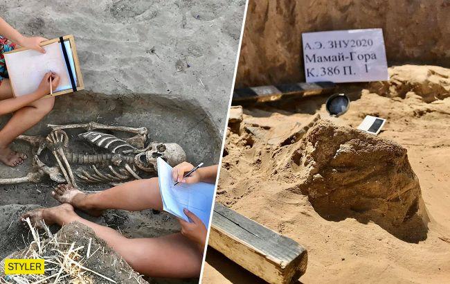 Археологи нашли на легендарнойМамай-Горе культовые скифские ямы IV века до н.э. (фото)