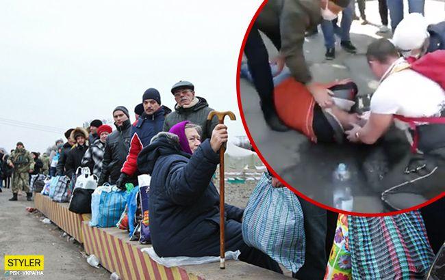 Українці втрачають свідомість в чергах на кордоні: відео інциденту
