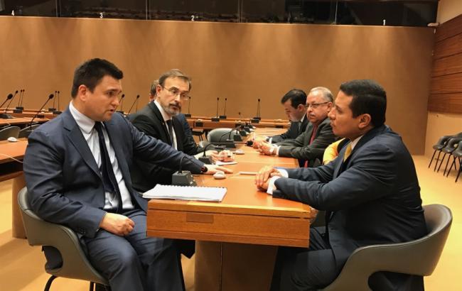 Фото: Павел Климкин в Женеве встретился с главой МИД Гватемалы Карлосом Москосо