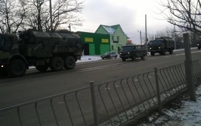 Фото: военная техника РФ в Симферополе