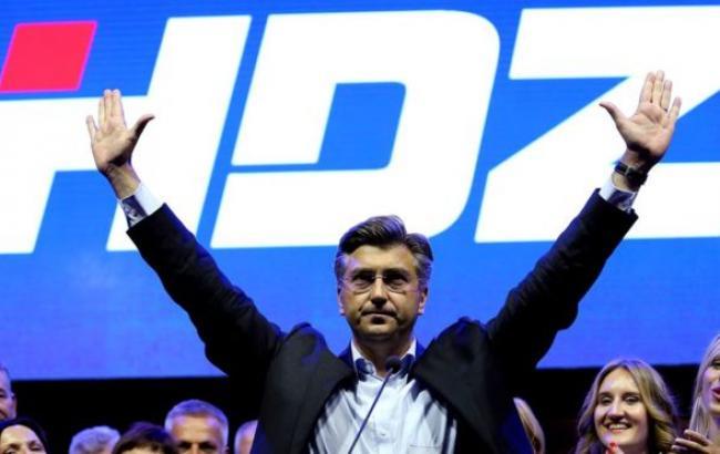 Фото: пария ХДС празднует победу на парламентских выборах в Хорватии