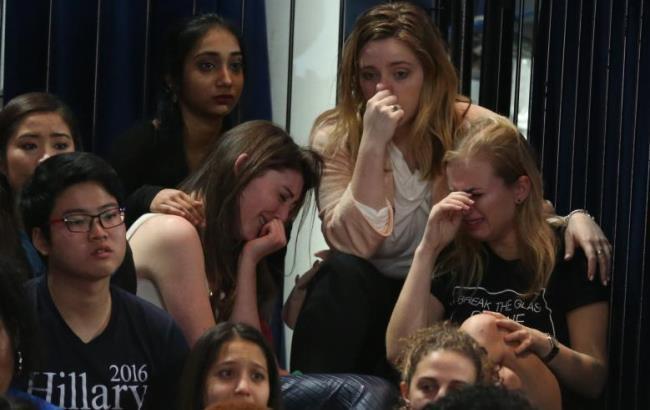 Фото: Прихильники Клінтон після виборів (reuters.com)