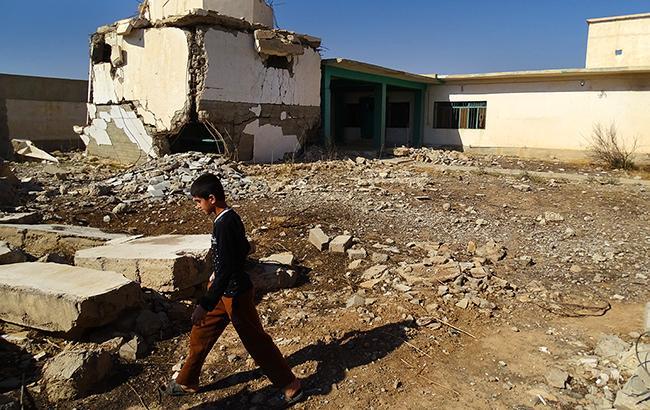 Главный храм какаи на севере Ирака был взорван джихадистами (фото Юрий Мацарский)