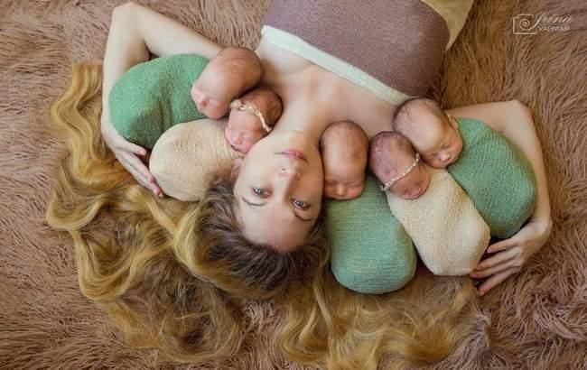 Фото: Оксана Кобелецкая и 5 близнецов (instagram.com/odessafiver)