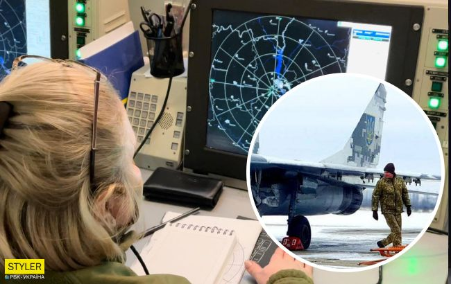 Под Киевом автомобиль столкнулся с самолетом